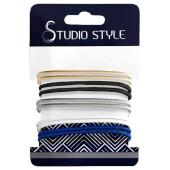Резинка для волос Studio style 10шт тонкие цветные