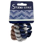 Резинка для волос Studio style 3шт провод тканевый