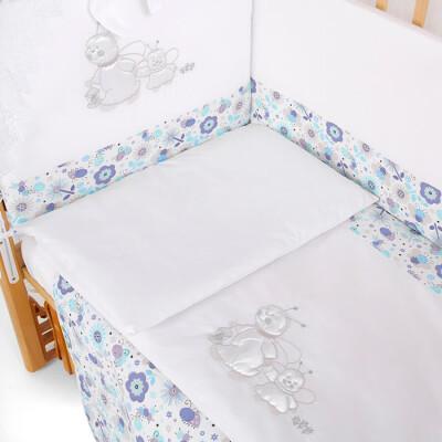 Комплект в кроватку Pituso 6 предметов пчелки голубой p01b1