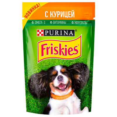 Корм для собак Friskies 85г с курицей