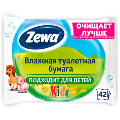 Влажная туалетная бумага Zewa детская 42шт