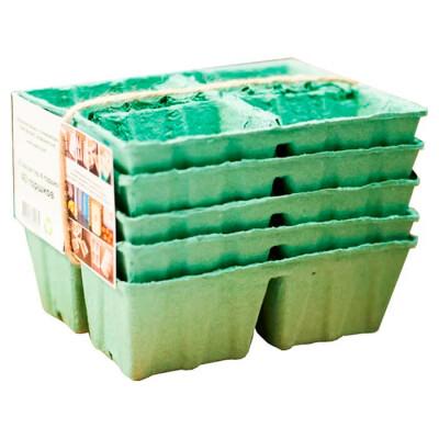 Горшки бумажные для рассады 20шт 5 кассет биоразлагаемые