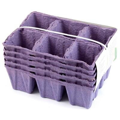 Горшки бумажные для рассады 30шт 5 кассет биоразлагаемые