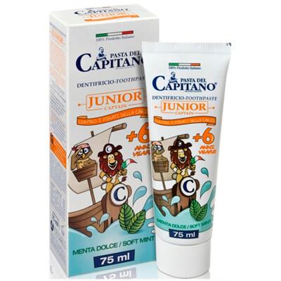Зубная гель-паста Del Capitano 75мл мята 6+лет