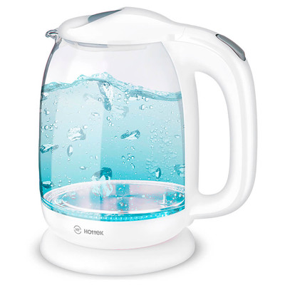 Чайник электрический HOTTEK 1,7л стекло белый