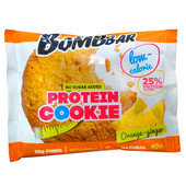 Печенье низкокалорийное протеиновое Bombbar 40гр апельсин-имбирь