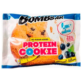 Печенье низкокалорийное протеиновое Bombbar 40гр смородина-черника