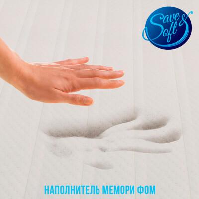 Матрас Save&Soft с эффектом памяти в съёмном чехле (90*190*5см)