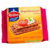 Хлебцы Щедрые 200г бородинские