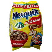 Готовый завтрак Nesquik 250г алфавит пакет Nestle