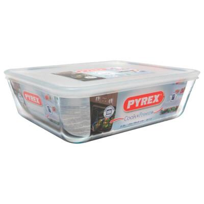 Блюдо Pyrex 25*19*8см 2,6л cook freez прямоугольное с крышкой 243p000