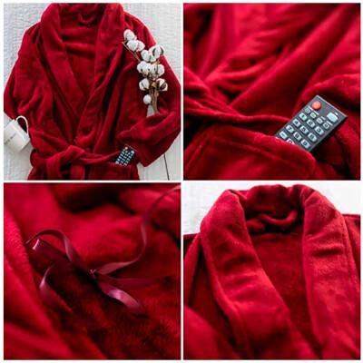 Халат без капюшона Save&Soft бордо р.м fb001