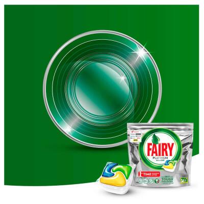 Таблетки для посудомоечных машин Fairy платинум 70шт лимон