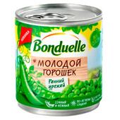 Горошек зеленый Bonduelle молодой 425г ж/б