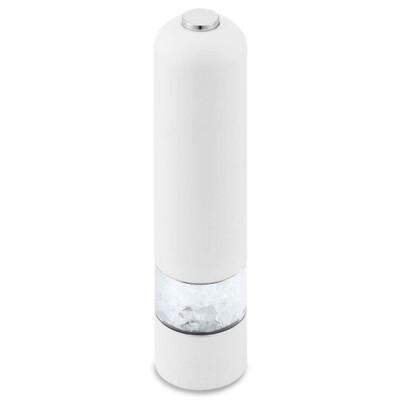 Электромельница с подсветкой Qwerty 5*23см перец/соль белый