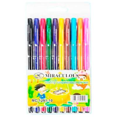 Набор ручек шариковых Basir 10шт цветной корпус 10801