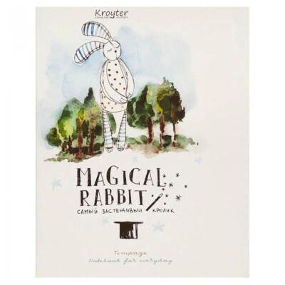 Тетрадь 48л клетка Kroyter магический кролик зеленый 437675