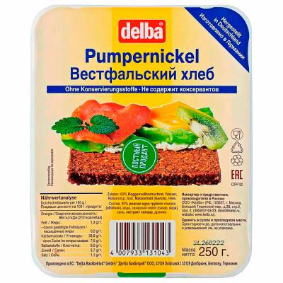 Хлеб вестфальский нарезанный 250г Delba