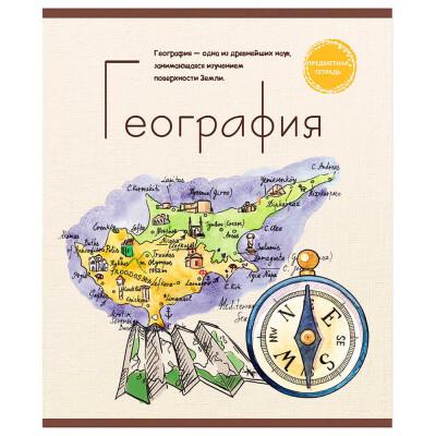 Тетрадь 48л клетка Профит география знание-сила 48-2599