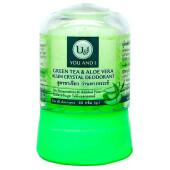 Дезодорант кристаллический 45г с зеленым чаем и алоэ вера