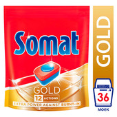 Таблетки для посудомоечных машин 36шт Somat gold 12 действий