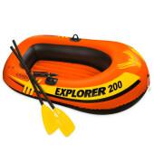 Лодка Intex 185*94*41см 2местная весла/насос исследователь от 6 лет и58331