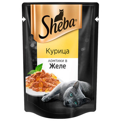Корм для кошек Sheba 85г ломтики в желе курица