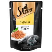 Корм для кошек Sheba Pleasure 85г ломтики в соусе курица