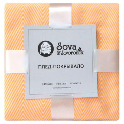 Покрывало Зиг-заг 175 205 Sova & Javoronok лимонное