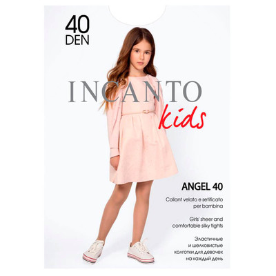 Колготки детские Incanto р.128-134 ангел 40 бьянко