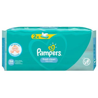 Детские влажные салфетки Pampers baby frash 52штх2