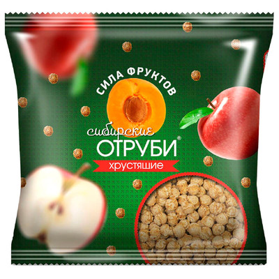 Отруби Сибирские 100г сила фруктов пакет