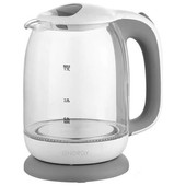 Чайник Energy E 281 1.7л стекло пластик цвет бело серый