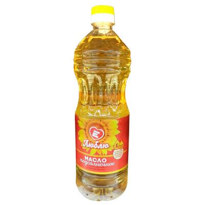 Масло Люблю 0,9л подсолнечное рафинированное дезодорированное