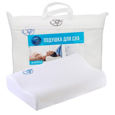 Подушка Save&Soft для сна 60*40*12/10см белый сумка из нетканного материала