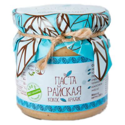 Паста Райская 200г без сахара арахис кокос