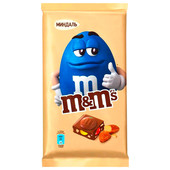Шоколад M&Ms 125г молочный с миндалем и разноцветным драже