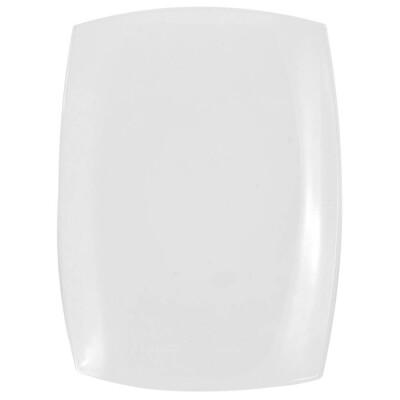Блюдо 35см квадрато прямоугольное белое d6413