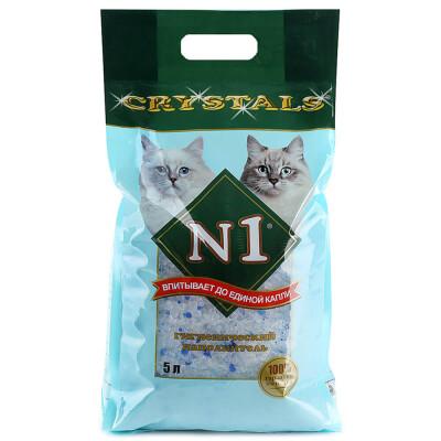 Наполнитель для туалетов домашних животных №1 кристалл 5л силикагелевый