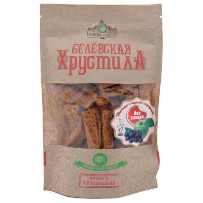 Хрустила Белевская яблочная с черной смородиной без сахара 50г