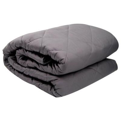 Одеяло Save&Soft стеганое тяжелое 9кг пепельно-серый 152*203см