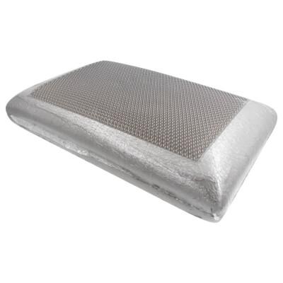 Подушка Save&Soft для сна 60*40*14см черный с черной гелевой накладкой сумка из нетканного материала