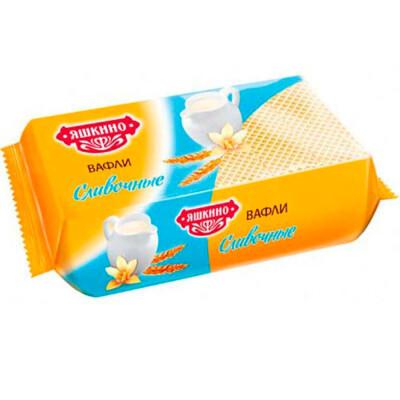 Вафли Яшкино 200г со сливочным вкусом яшкинский п/к