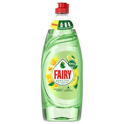 Средство для мытья посуды Fairy 650мл пьюр энд клин бергамот и имбирь