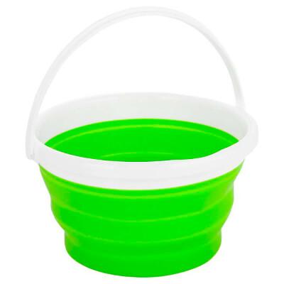 Ведро 10л Bradex складное круглое зеленое td 0318