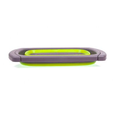 Дуршлаг 4л Bradex складной прямоугольный телескопическая ручка зеленый силикон tk 0397