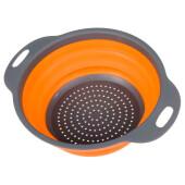 Дуршлаг 2,4л Bradex складной круглый оранжевый силикон tk 0478