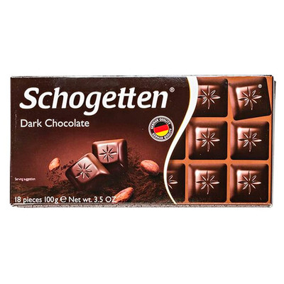 Шоколад Schogetten 100г темный