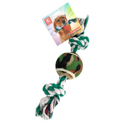 Игрушка для собак Европа канат с мячом 30см хлопок ktr6133