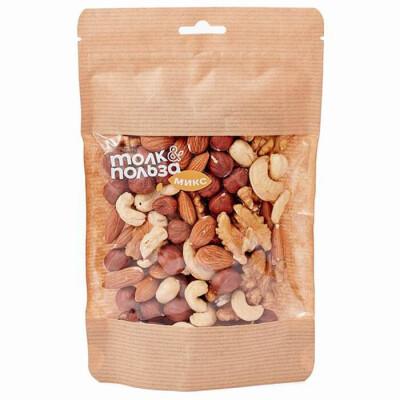 Ореховая смесь №4 Только Польза 150г кешью, фундук, миндаль, грецкий орех